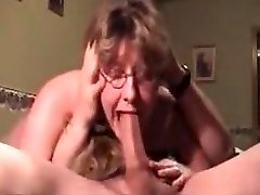 Humiliated Ugly Mature Is Still Able To Make Knob Grow Hard While Blown8