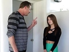 Hot Step-Stepdaughter Punished After Partying