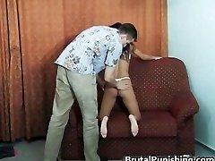 Rigid-core restrain bondage and brutal punishement part1