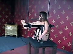 Lovely chick Zoey Laine gets her cunny disciplined in the torture room