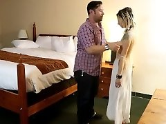 Ordering Room Service Sex Slave BJ/Facial Cumshot