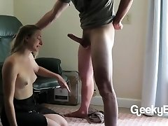 Throating His Man Rod, Struggling With His Blast