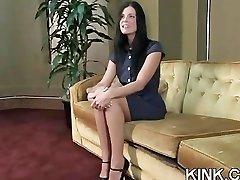 Huge tits, subjugated housewife