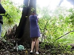 my slave X disciplined in the forest