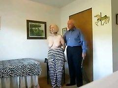 Mature convict sue used by the prison warden