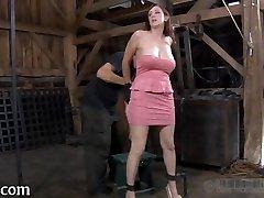 Brutal hitting of babe's bottom