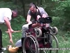 Granny gets forced to hookup