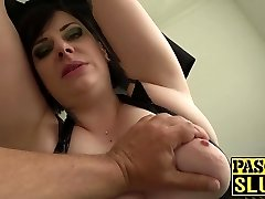 Lush mature lady Elouise Zeal deepthroat and rough sex