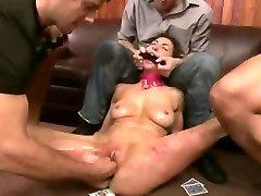 Aggressive BDSM Double Penetratopn Gangbang