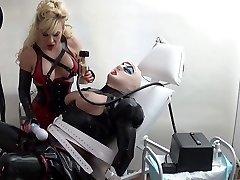 rubber mega-slut milked in the medical health center by Madame C