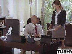 TUSHY Subjugated secretary punished and sodomised