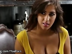 April O'Neil Punished by Lesbian Manager for Bitchy Dress