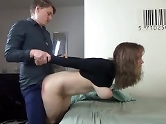Young couple have raunchy clothed sex