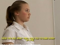 A Russian student girl meets a fill of rude brutal boys and gets humiliated