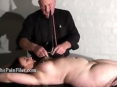 Rack tortured plumper in extreme bondage and crying victim girl Nimue