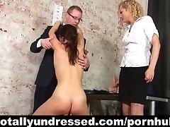 Wild double dildo test for secretary position
