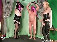 Two gimps CBT and ballbusting