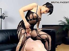 Female Domination facesitting bodystocking