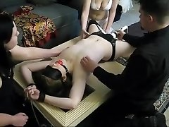 Brunette Teenage Slave is Corded, Vibrated and Tickled Ruthlessly
