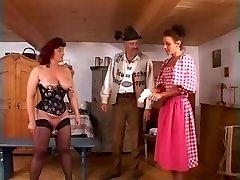 Mature redheaded slave girl fisted stiff in fuckbox