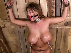 British pornstar restrain bondage and cumshot