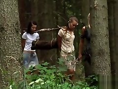 Two Young Femmes With A Sub Huntress In New Home