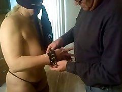 amateur slave tortured on couch