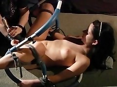 Ejaculation and sobbing in pain in BDSM bondage