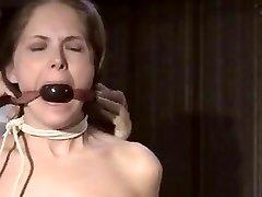 Slave girl restrain bondage exercise pt 1