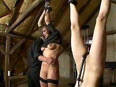 Ladies getting disciplined on slave farm BDSM