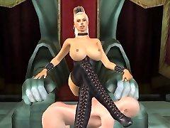 Tall big-boobed ash-blonde dominatrix animated by tallmistresslover