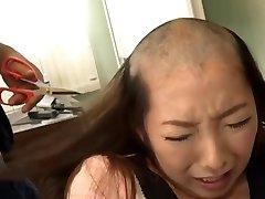 headshave chinese girl