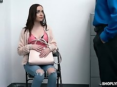 Yummy and cute teenage Aliya Brynn is fucked and punished for shoplifting