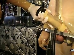 Rubber Slut Machine Milking