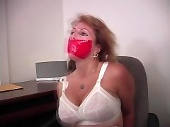 Cougar Gets a Tiny Tied Up At The Office