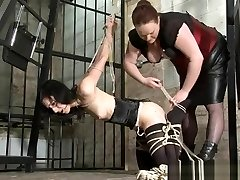 Kinky Elise Graves lesbian restrain bondage and advanced strap works of american