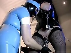 pierced busty slave to amuse lesbian rubber Mistress