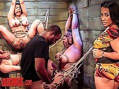Becca Diamond's First Strap Suspension with Plenty of BDSM Orgy