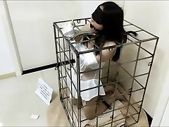 Japanese Bride Bondage in Cage