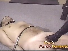 Pizza boy concludes up as a slave in this dominatrixs basement