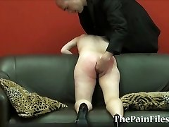 Kinky spanking and brutal blowjob of dominated slavesex marionette