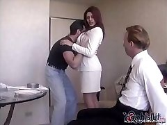 Raylene's handsome spouse gets tied up and made to watch his wife get pummeled