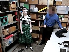 Pale emo teen shoplifter penalize fucked by a LP officer