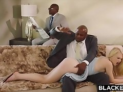 BLACKED Obedient girlfriend punished by two black men