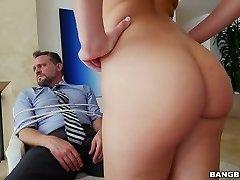 Tied up mature man gets deepthroat dt by Aidra Fox