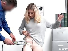Arrested tart Paisley Bennett is punished with rear end by dirty cop