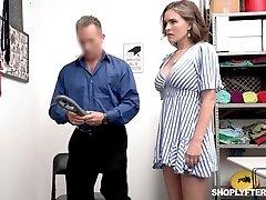 Supah wonderful shoplifter Krissy Lynn gets punished in a guard room