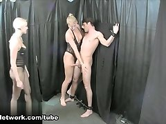Vanessa Cage & JC Simpson Play with their Bound Lovemaking Slave