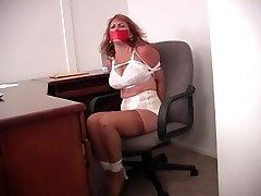Autumn Woods: Panty Girdled Cougar Carried Away Bound & Gagged