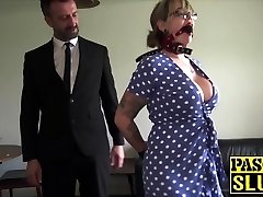 Lovely Madison Stuart bound for maledom dick injection